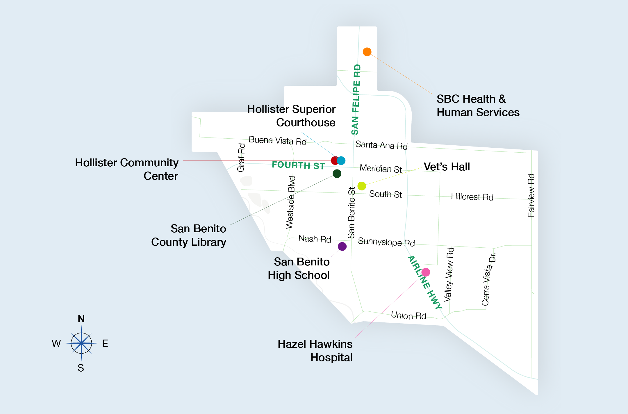 Go County Express Service Map Hollister